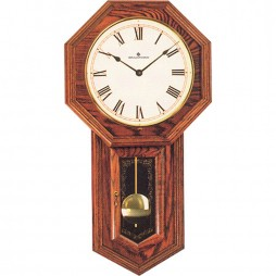 Lansford Red Oak Mechanical Keywound Wall Clock 270034