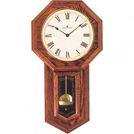 Lansford Red Oak Mechanical Keywound Wall Clock 270034