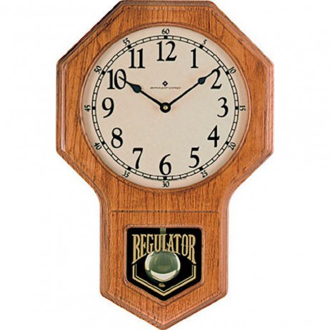 Carlisle Oak Schoolhouse Regulator Wall Clock Bradford