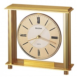 Bulova Grand Prix Table Clock Model B1700