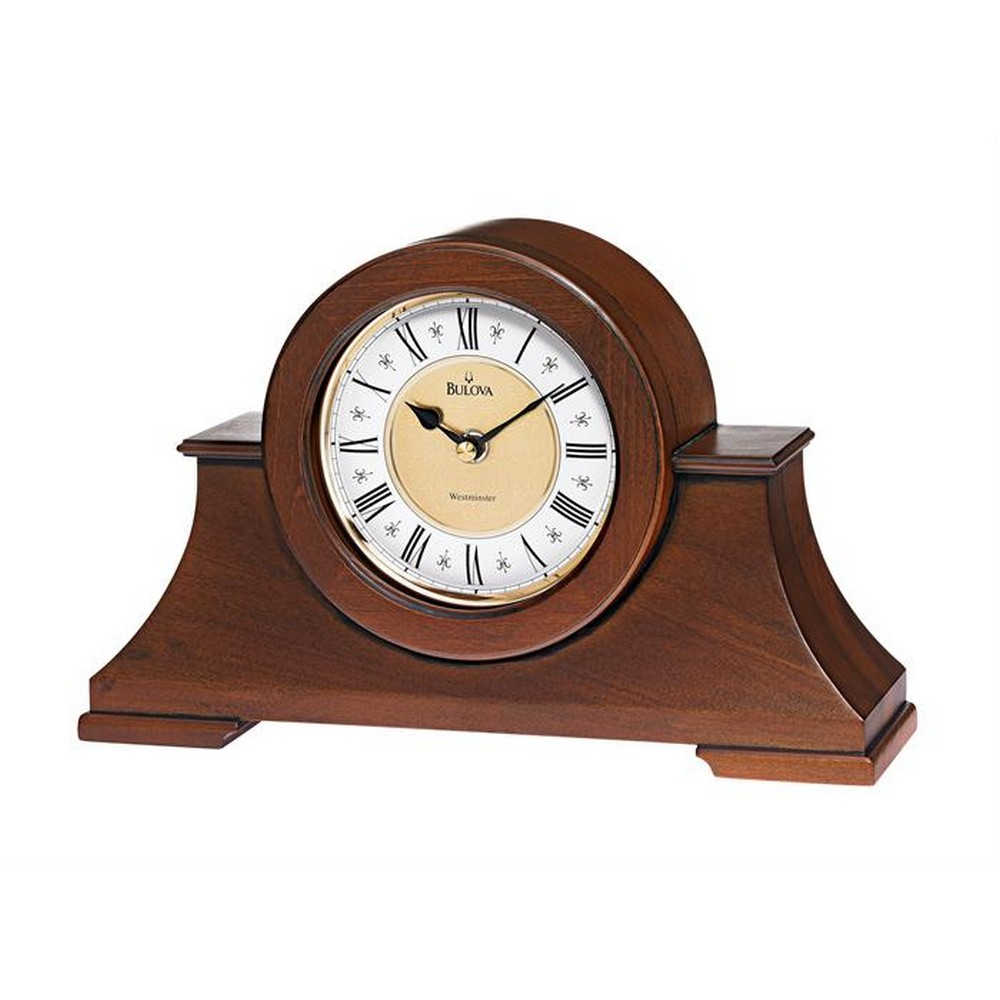 mantel clocks  howard miller bulova hermle mantle clock  - cambria mantel clock with westminster chime – open box bo