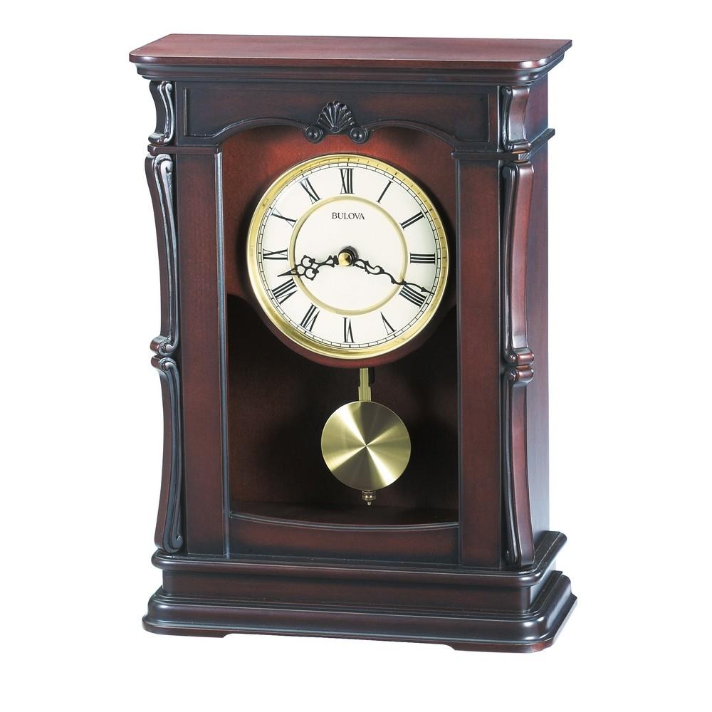 bulova abbeville pendulum mantel clock model b1909