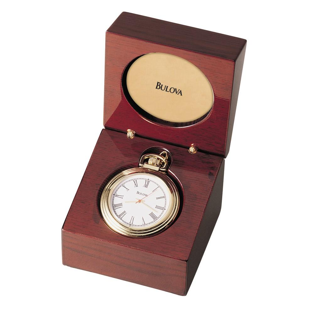 Bulova Ashton Pocket Watch Table Clock Model B2662