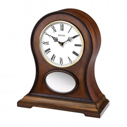 Brookfield Bluetooth-enabled Mantel Clock with Speaker System - Cherry B6217