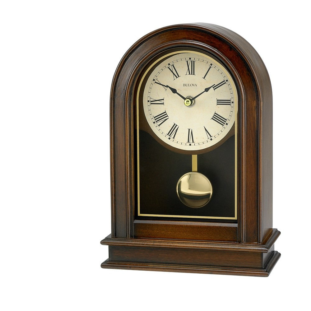 Bulova Hardwick Pendulum Table Clock B7467