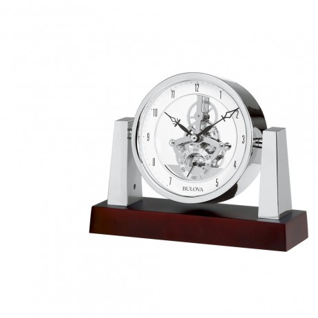 Bulova Largo Table Clock With Skeleton Movement Model B7520
