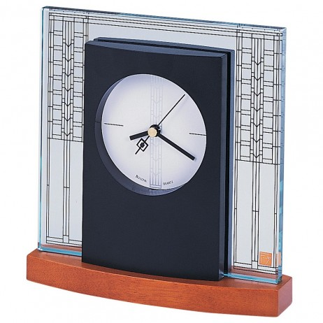 Bulova Frank Lloyd Wright Clocks Glasner House Table Clock Model B7750