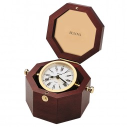 Bulova Quartermaster Natuical-themed alarm clock B7910