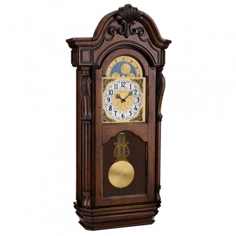 Bulova tamlen triple chime pendulum wall clock c1515 for Bulova pendulum wall clock
