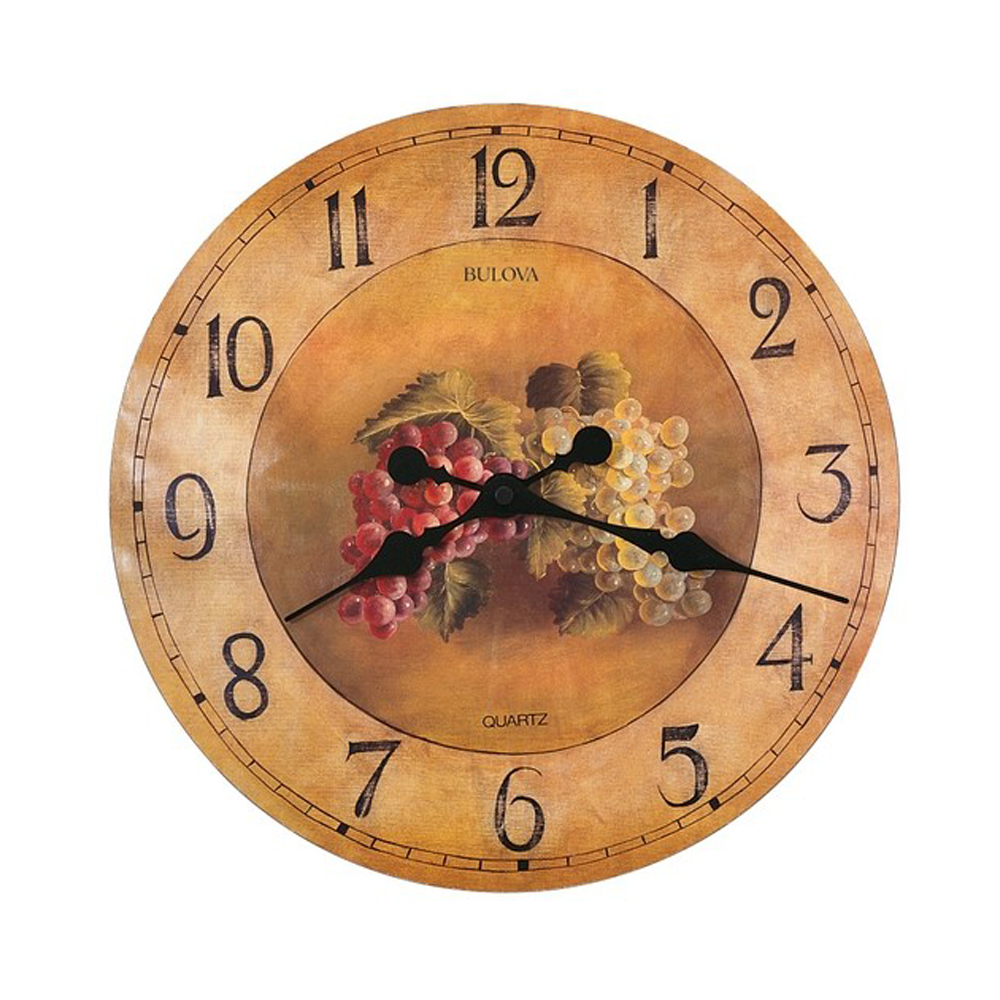 bulova whittingham kitchen wall clock with fruit model c3260