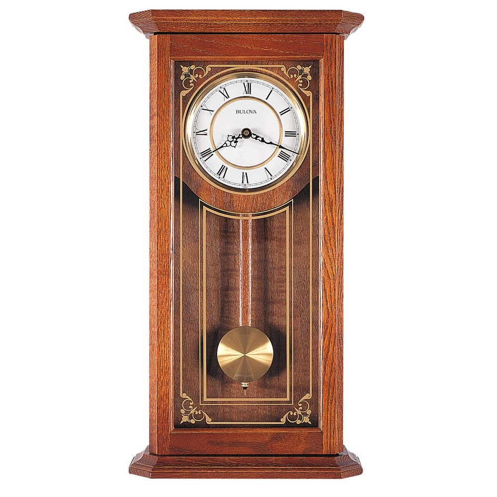 Bulova Cirrus Oak Wall Clock Model C3375