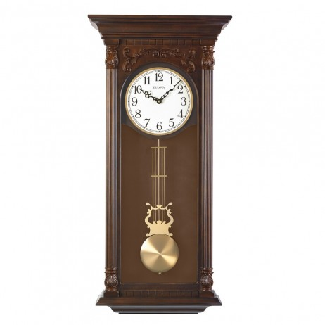 Norwood II  Wood Wall Clock with Harmonic Triple Chime Movement C3514