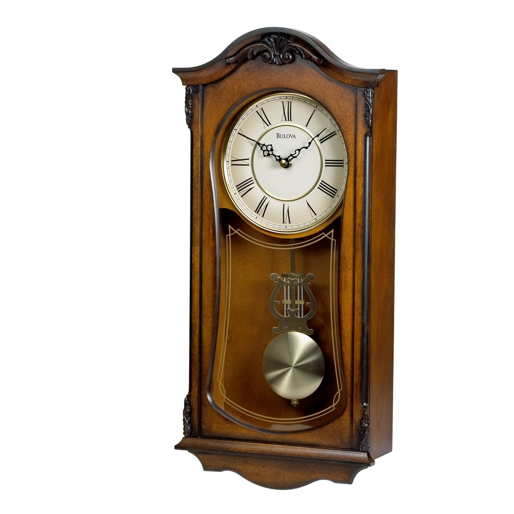 Chiming Wall Clock With Westminster Chime Bulova Cranbrook