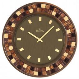 "Bulova Mosica 19"" Round Decorative Wall Clock Model C4104 - Open Box"