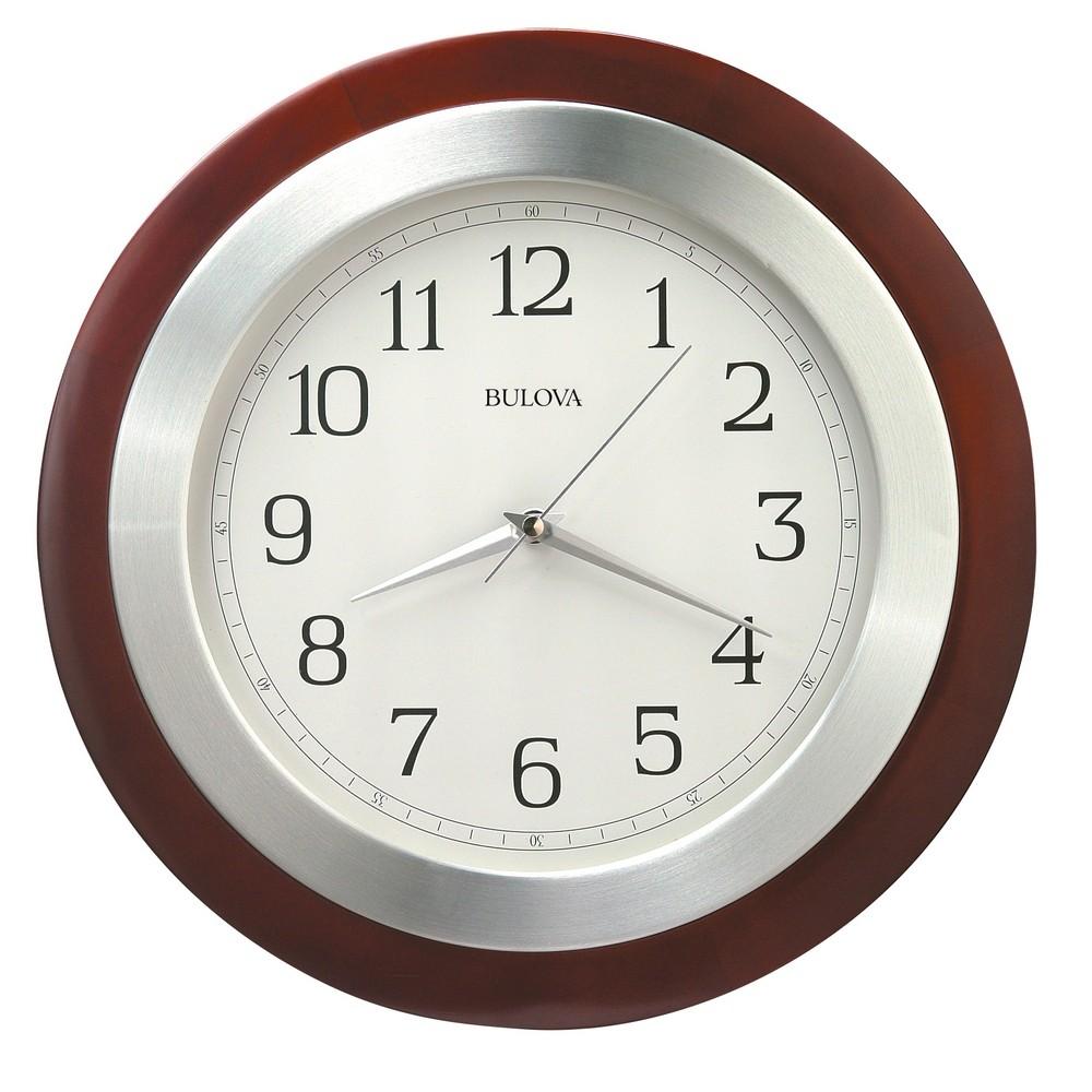 Bulova Reedham Wood Wall Clock Model C4228