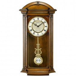 Bulova Hartwick Traditional Triple Chime Pendulum Wall Clock C4331