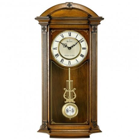 Bulova Hartwick Traditional Triple Chime Pendulum Wall Clock C4331