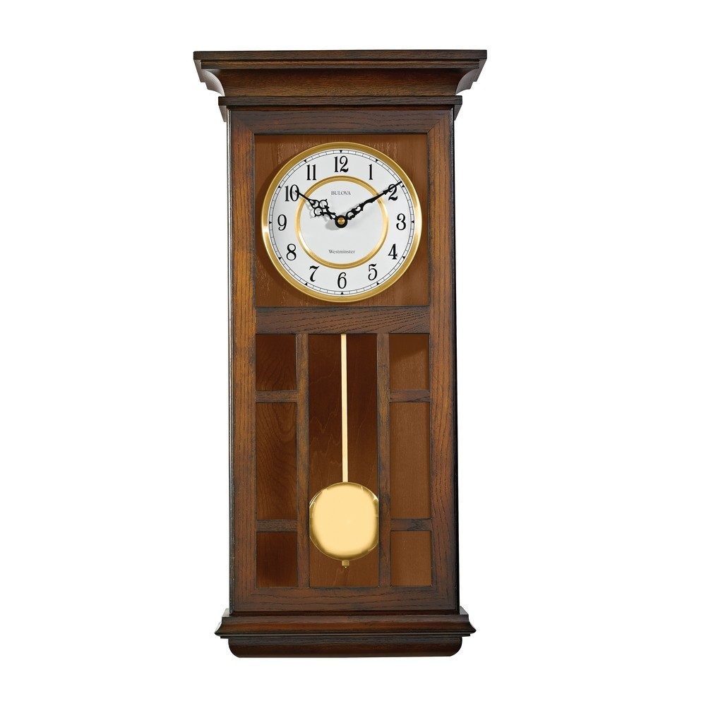 bulova mayfair shaker style wall clock c4337