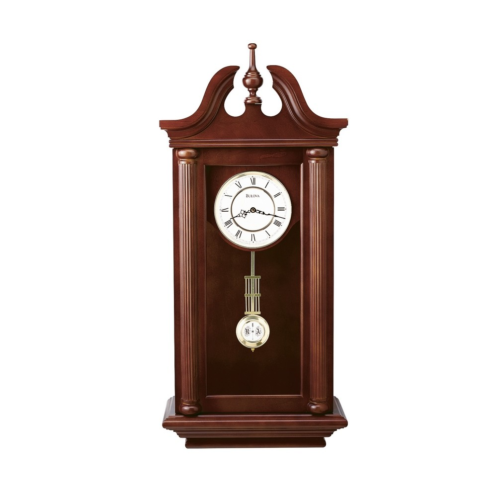 Bulova Walnut Manchester Wall Clock C4456