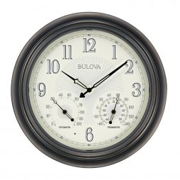 Outdoor Wall Clock - Bulova Weather Master C4813
