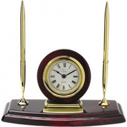 Ambassador 2 Pen Set with Desk Clock