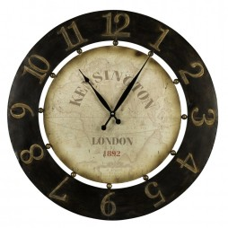 Atish Wall Clock | Cooper Classics Distressed Wall Clock 40596