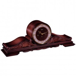 Queensway Mantel Clock With Mechanical Movement and Walnut Finish 21116-030340