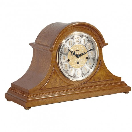 Hermle Amelia Mantel Clock With Key Wind Movement and Classic Oak Finish 21130-I90340