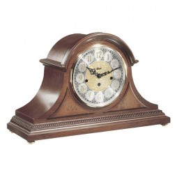 Amelia Mantel Clock With Quartz Movement and Elegant Cherry Finish 21130-N92114