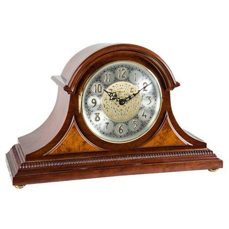 Amelia Mantel Clock With Quartz and Elegant Cherry Finish 21130N9Q