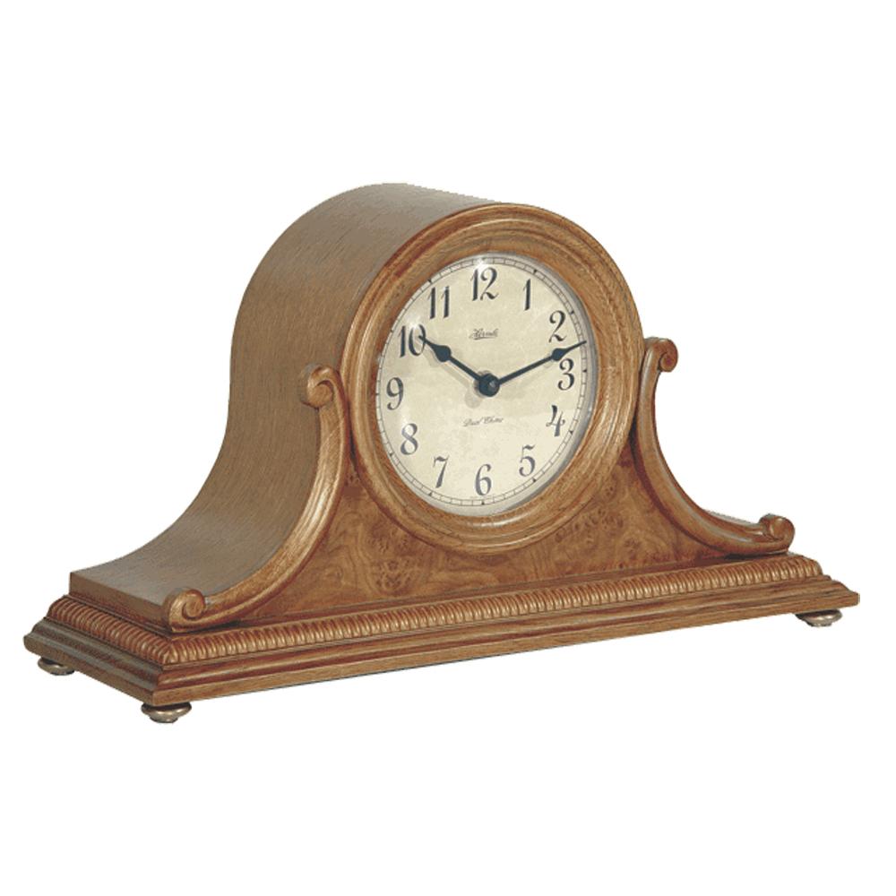 Scottsville Mantel Clock With Quartz And Classic Oak Finish