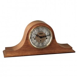 Hermle Laurel Tambour Mantel Clock With Key Wind Movement and Classic Oak Finish 21134-I90340