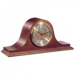 Hermle Laurel Tambour Mantel Clock With Key Wind Movement and Cherry Finish 21134-N90340