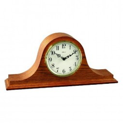 Hermle Sweet Briar Tambour Mantel Clock With Key Wind Movement and Oak Finish 21135-I90340