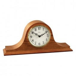 Hermle Sweet Briar Tambour Mantel Clock With Quartz Movement and Oak Finish 21135-I92114