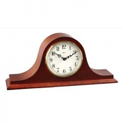Hermle Sweet Briar Tambour Mantel Clock With Key Wind Movement and Cherry Finish 21135-N90340