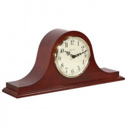 Hermle Sweet Briar Tambour Mantel Clock With Quartz Movement and Cherry Finish 21135-N92114