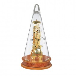 Hermle Leyton Table Clock With Cherry Finish and Skeleton Movement 22716-160791