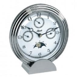 Hermle Stockton II Multi-function Desk Clock - Chrome Plated 22961-002100
