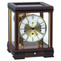 Hermle Bergamo Mantel Clock With 8-day Mechanical Movement - Mahogany 22998-070352