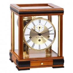 hermle bergamo mantel clock with 8day mechanical movement u2013 cherry - Mantle Clock