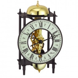 Hermle Wrought Iron Table Clock with Skeleton Movement - Black-Black 23001-000711