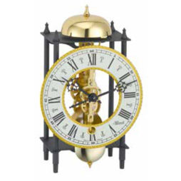 Skeleton Clock - Hermle Wrought Iron Table Clock Black/Gold 23001000711