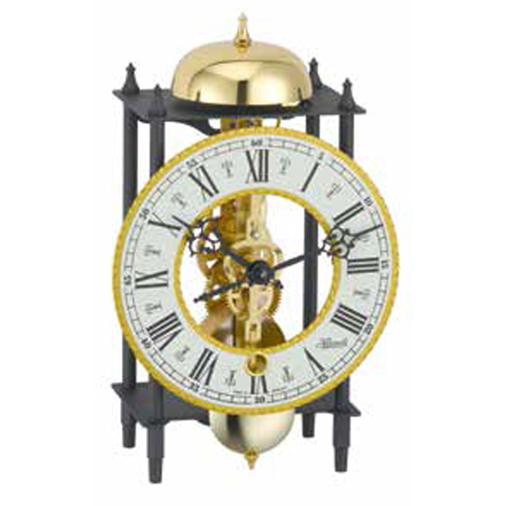 Skeleton Clock Black Gold Hermle 23001000711