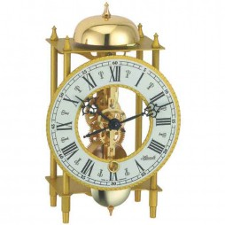 Hermle Wrought Iron Table Clock with Skeleton Movement - Black-Gold 23003-000711
