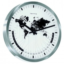 Hermle Airport Time Zone Wall Clock 30504-002100
