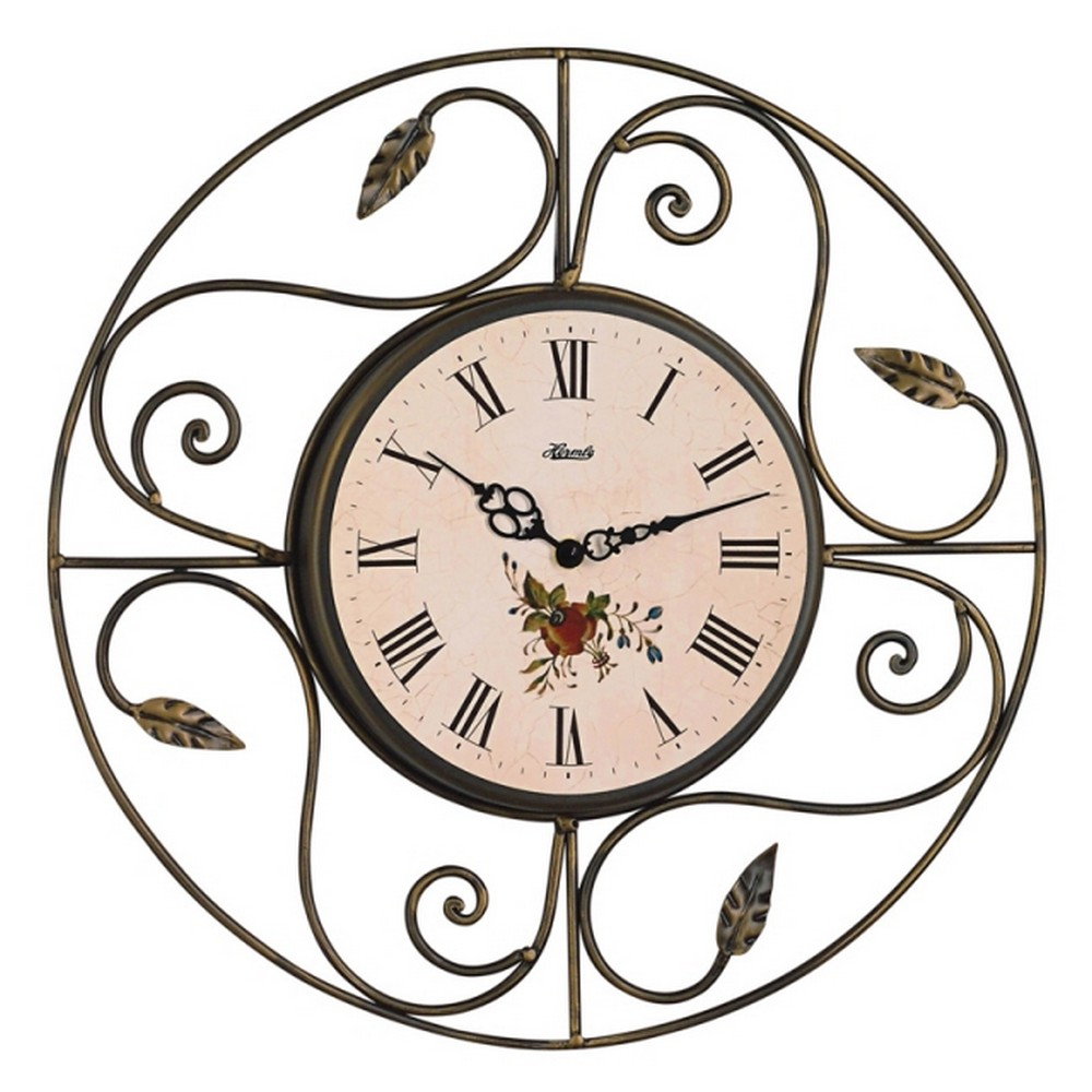 hermle clearwater 17 decorative wrought iron wall clock