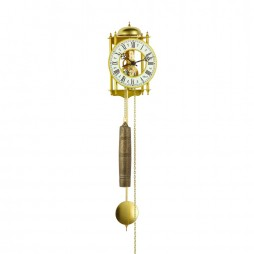 Hermle Hamburg Mechanical Skeleton Wall Clock - Gold 70332-000711