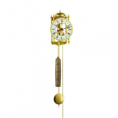 Hermle Hamburg Mechanical Skeleton Wall Clock Gold 70332000711