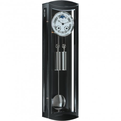 Hermle Mornington Cable-driven Mechanical Regulator Wall Clock - Black Finish 70650-740058